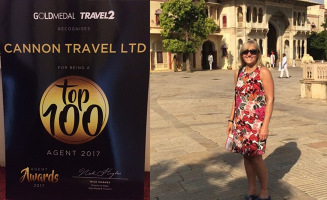 Cannon Travel recognised as a 'Top 100 Agent' at Annual Awards